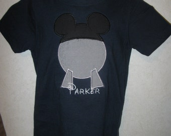 Epcot Mickey Ears BOY Birthday Vacation Embroidered Presonalized shirt onesie