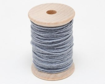 Baker's Twine - 20 Yards - Grey - Gray - 4 Ply Twine on Wooden Spool