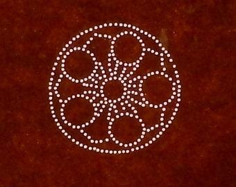 Vintage  Japanese Stencil  Family Crest  Kamon  Stencil  (ST165) Plum Blossoms Flowers