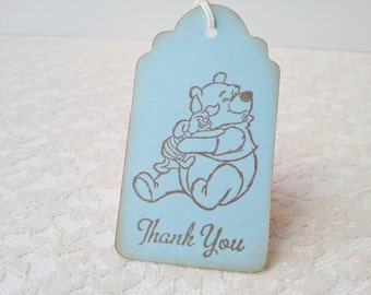 Winnie the Pooh Piglet Baby Shower Birthday Party Tags Set of 10