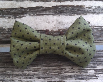 Oliver slide-on-collar doggie/kitty bowtie
