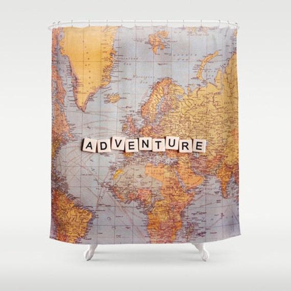 Adventure Fabric Shower Curtainworld