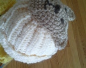 Crochet Baby Bear Hat,size 3-6 month
