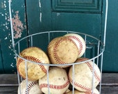 Vintage baseballs, set of 5, sporting goods, instant collection, memorabilia, bowl filler, toy, man cave decor