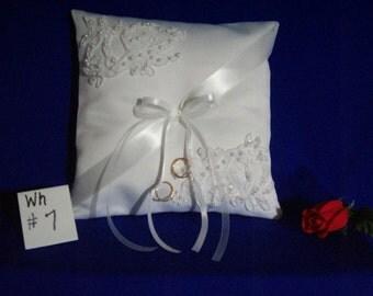 Ring Bearer Pillow     (white  #  7)