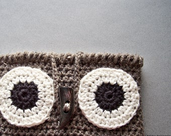 Crochet PATTERN, Crochet Owl iPad Case Pattern, Owl Tablet Case Pattern, Owl Galaxy Case Pattern, Rustic Woodland Neutral