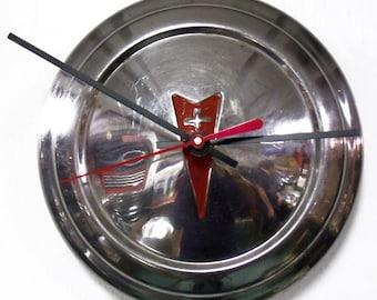 1973 - 1977 Pontiac Astre Sunbird Hubcap Clock - Retro PMD Car Wall Clock - 1974 1975 1976
