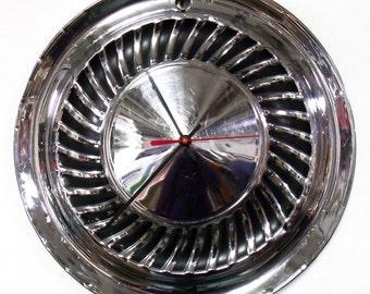 1959 Ford Galaxie Fairlane Wall Clock - 1950's Classic Car Hubcap - Hub Cap Art - Father's Day Gift - Mens Gift