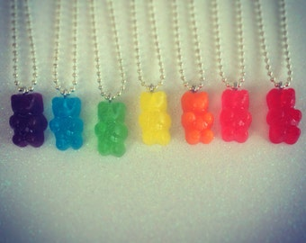 Gummy Bear Necklace - Available in 7 colors