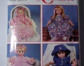 "DOLL CLOTHES Simplicity 0600 12"" to 22"" three size sewing pattern Dress ruffles Panties Bonnet Hat"