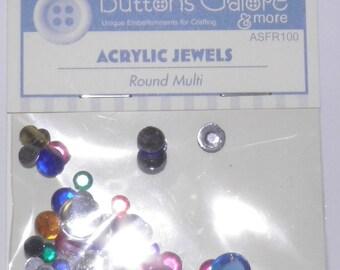 ON SALE  Round Acrylic Jewels