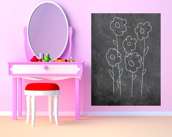 Large Rectangle Chalkboard Vinyl Wall Decal Sticker