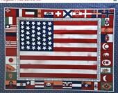 HUGE SALE SALE - U.S. Flag Panel, Fairmont Park, ca 1876 - 1880