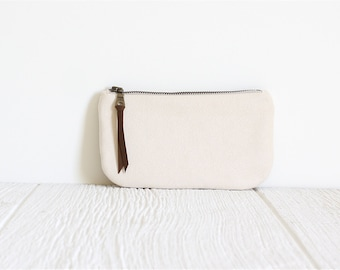 Vegan Suede Clutch, White Clutch, Bridesmaid Gift, Ecofriendly Purse