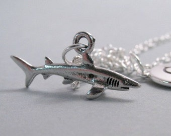 Shark Silver Plated Charm Jewelry Supplies