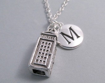 Dr Who Tardis Telephone Booth Silver Plated Charm Jewelry Supplies
