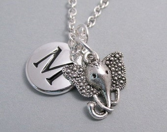Elephant Head Silver Plated Charm Jewelry Supplies