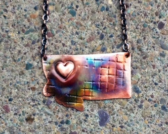 State of Montana Copper Necklace