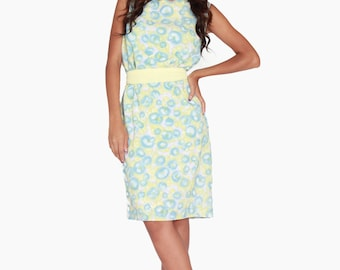 SALE 60s Pastel Floral Dress