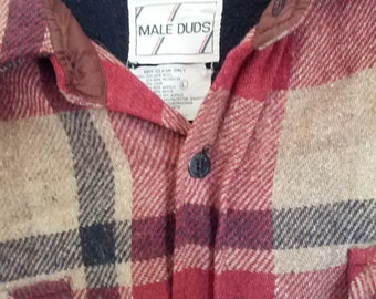 vintage Male Duds cranberry grunge shirt wool 1980s ski sweater