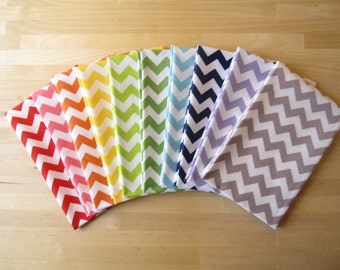 Small Chevrons Fat Quarter Sampler Bundle - Fabrics by Riley Blake Designs -  10 FQs 2.5 Yards Total