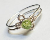 Peridot Ring  Peridot Jewelry  Peridot Gemstone Ring
