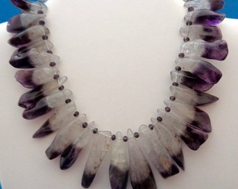 Banded Amethyst Necklace