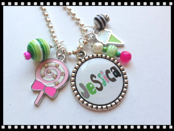 Items similar to personalized necklace for little girls for Jewelry just for fun