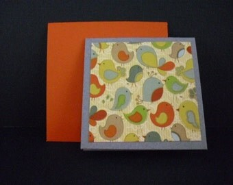 Set of 6 bird themed mini cards - you choose
