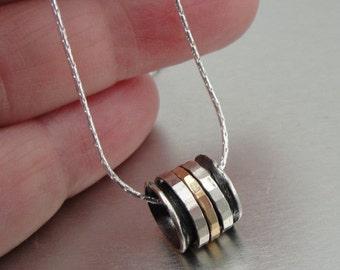 New Israel Handmade Simple Modern 14k Gold Fil 925 sterling Silver Pendant (I n)Y