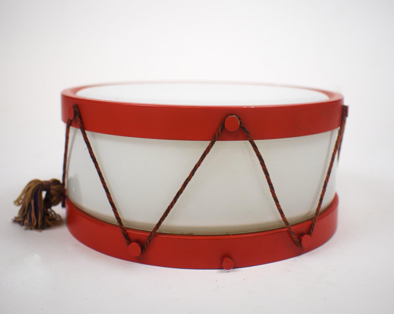 1940s milk glass toy snare drum light fixture by sevenbc on etsy. Black Bedroom Furniture Sets. Home Design Ideas