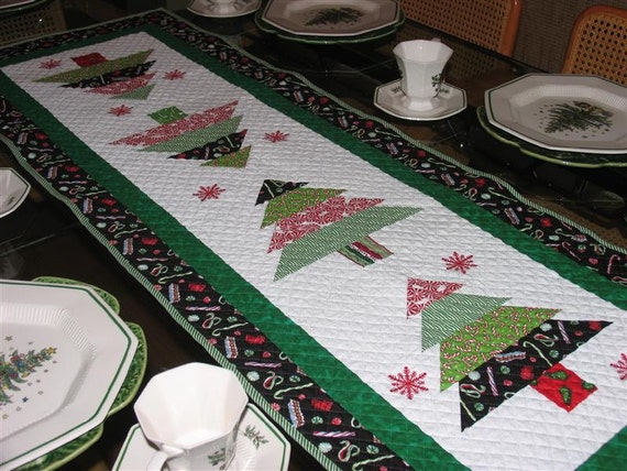 Items Similar To Quilted Christmas Table Runner On Etsy