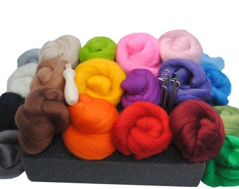 Heidifeathers Needle Felting Kit - with Handle