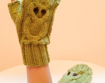 FINGERLESS GLOVES KNITTING PATTERN STRAIGHT NEEDLES   KNITTING PATTERN