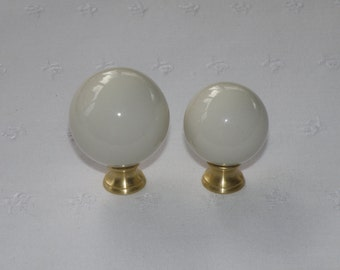Ceramic Ball Lamp Finial - Choose From 23 Colors - 2 Sizes - Made In The USA