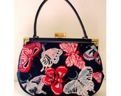 Needlepoint Butterfly Handbag - RESERVED for nobby w