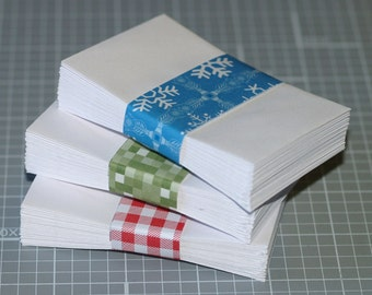 "Coin Envelopes (25) ... White . Mini . Business Card Size . 2.25"" x 3.5"" . Gummed Flap . Seller Supplies . Seeds . Cards . Scrapbooking"