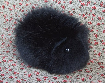 Black Toy Guinea Pig Handmade Soft Plushie