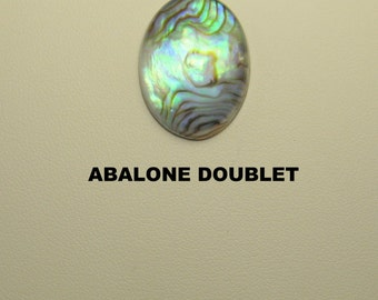 Abalone Doublet Oval Designer Cabochon for Jewelry Crafters.