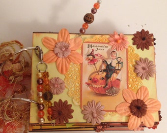Halloween Premade Scrapbook Album Vintage Style