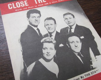 Close the Door Ebb and Klein 1955 Sheet Music