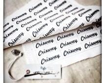 "76 customized fabric tags 2""*0,6"""