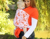 Baby Wrap Baby Carrier Stretchy Wrap Baby Sling   - Orange Fizz - Instructional DVD Included - FAST SHIPPING