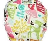 AI2 One Size Cloth Diaper Cover - Woodland Owls - FAST SHIPPING