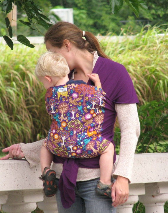 Baby Wrap Baby Carrier Stretchy Wrap Baby Sling  - Fantasy Forest - Instructional DVD Included - FAST SHIPPING
