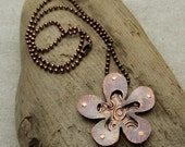 3D Funky Flower Necklace - 18 inch