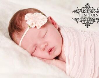 Baby Flower Headband..Flower Baby Headband..Baby Headband..Flower Headband..Newborn headband..Petite Flower Headband..Dayanara Headband
