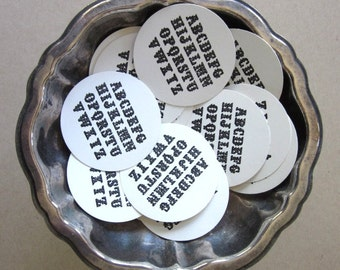 Alphabet Tags Round Paper Gift Tags Set of 10