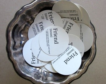 Friend Tags Round Paper Gift Tags Set of 10