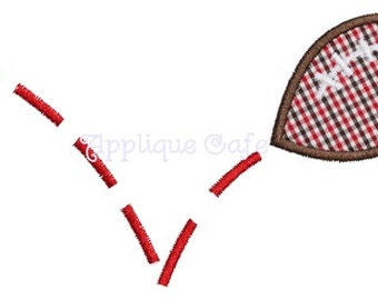 030 Spiked Football Machine Embroidery Applique Design